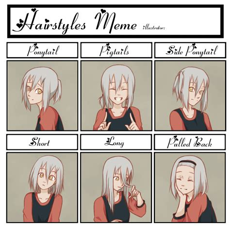 Hairstyle Meme - hairstyle meme ii by kumkrum on deviantart