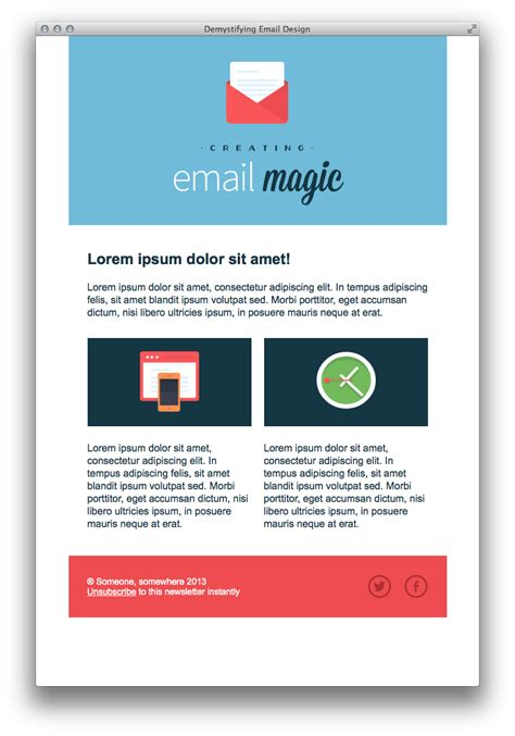 design an email template build an html email template from scratch