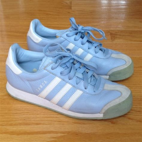 60 adidas shoes vintage adidas samoa sneakers light blue leather from s closet on