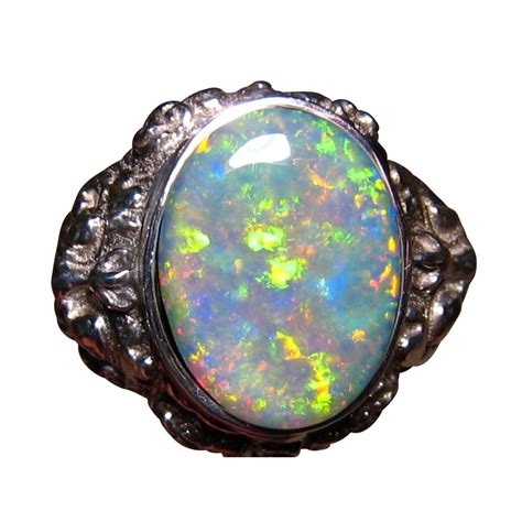 mens opal ring big barong 925 style sterling silver