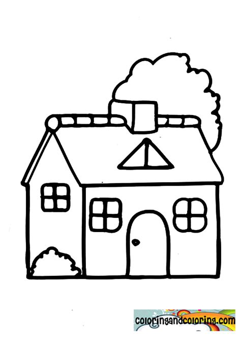 preschool house coloring pages