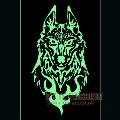 glow in the dark tattoo sticker 1pc luminous glow in the dark tattoos sticker wolf toem