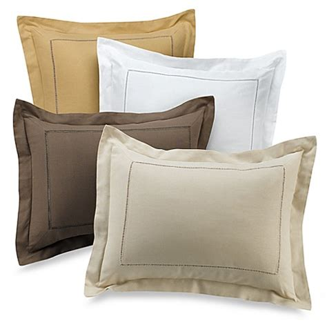 b smith bedding b smith linen hemstitch sham bed bath beyond
