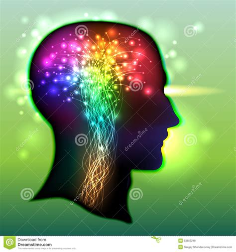 brain color human brain color of neurons stock vector image 53653219