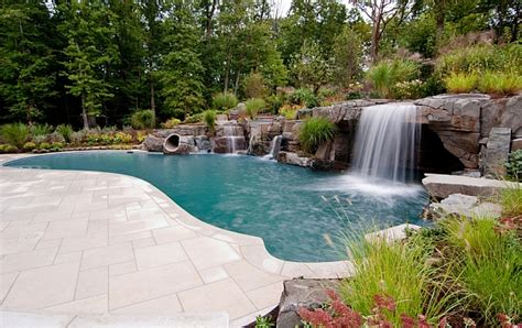 pool designs with waterfalls breathtaking pool waterfall design ideas