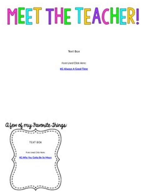 meet the teacher letter template meet the teacher intro