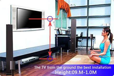 height to place tv on wall the perfect position wall mounting guide for your tv ace