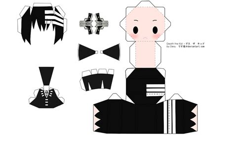 Papercraft Templates Anime - the kid papercraft by tsunyandere on deviantart