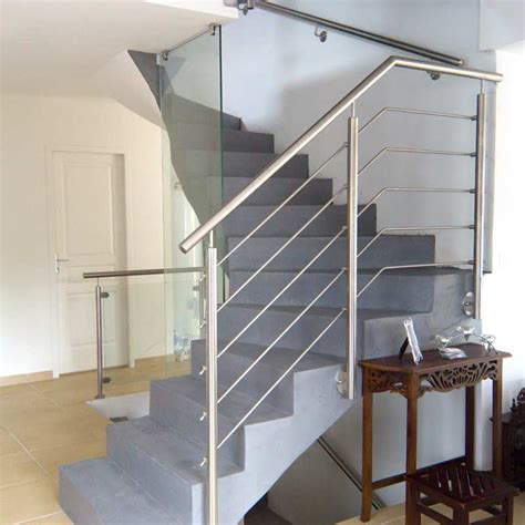 re escalier inox 5 barres pose anglaise inoxdesign