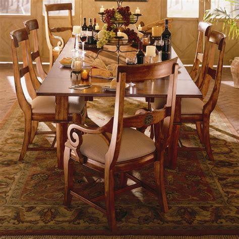 kincaid tuscano dining room set kincaid furniture tuscano 7 pc refectory leg table with 2