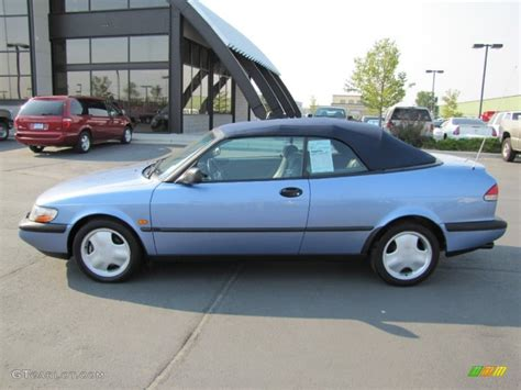 saab convertible blue 1996 sky blue metallic saab 900 se turbo convertible