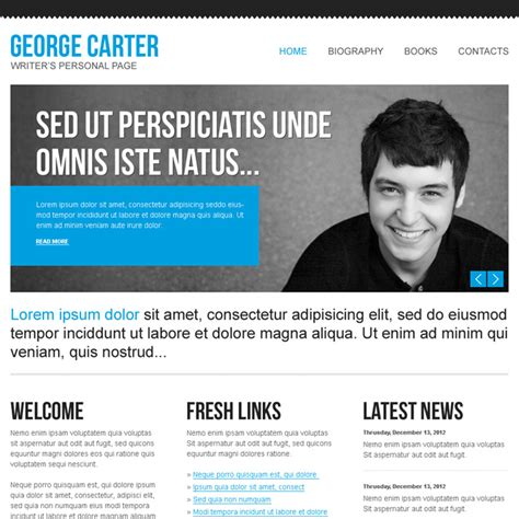 Personal Website Template Personal Resume Muse Web Template By Barisintepe Themeforest Selfy Programmer Personal Website Template