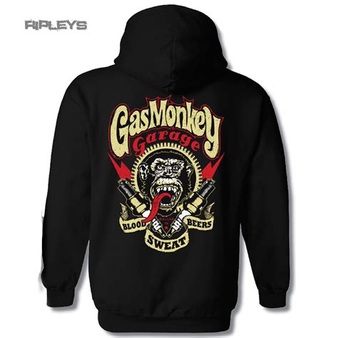 Sweater Hoodie Gas Monkey Garage official gmg black gas monkey garage hoody hoodie