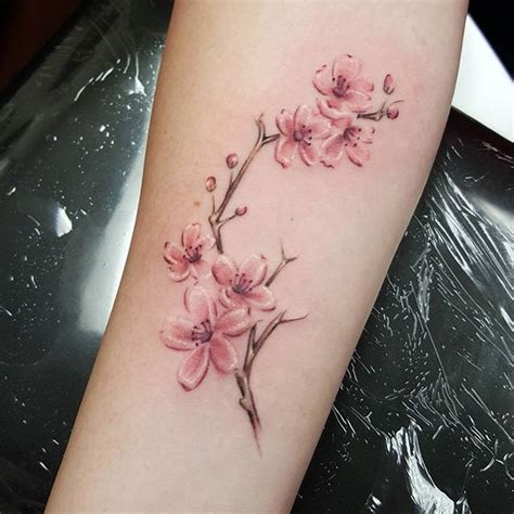 cherry blossom wrist tattoo best 25 cherry blossom tattoos ideas on