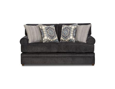 simmons upholstery scarlet sofa slate simmons scarlet loveseat slate