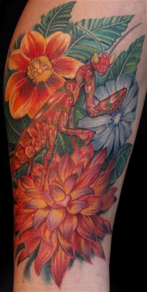 nate beavers tattoo orchid mantis by nate beavers tattoonow