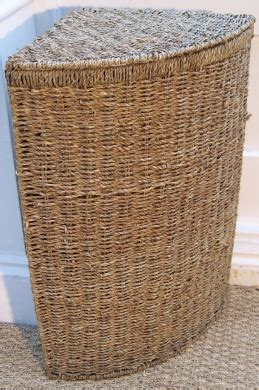 sea grass corner linen laundry basket medium seagrass