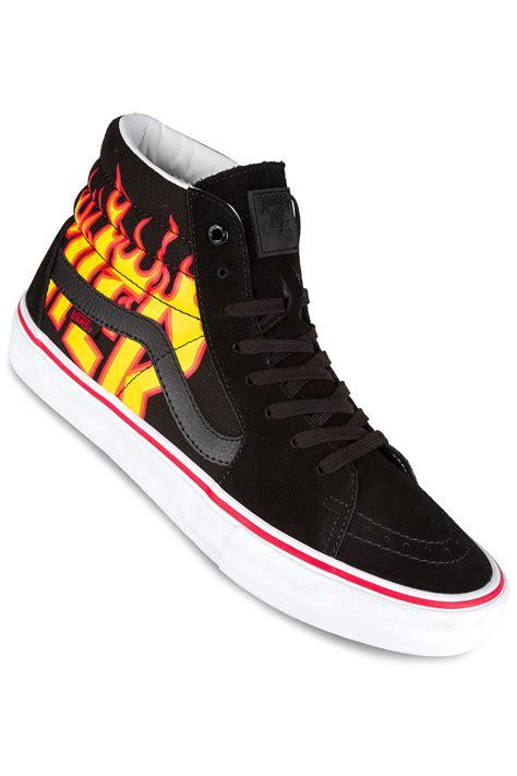 Trhasher X Vans vans x thrasher sk8 hi pro shoes black buy at skatedeluxe