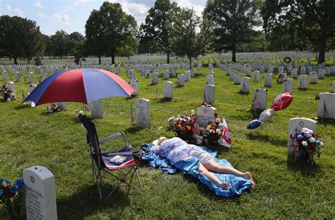 at grave may 28 memorial day observed at arlington national cemetery