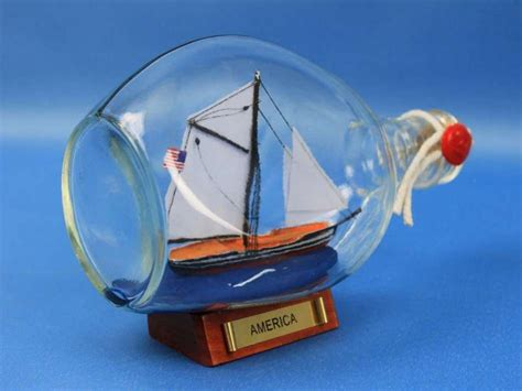 sailboat in a bottle buy america sailboat in a glass bottle 7 inch boat