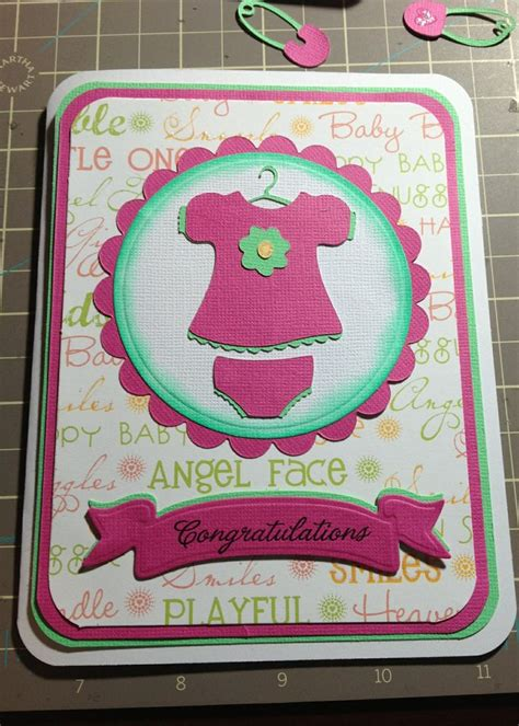 Cricut Baby Shower Cards by Cricut Baby Shower Card Handmade Baby Shower Cards