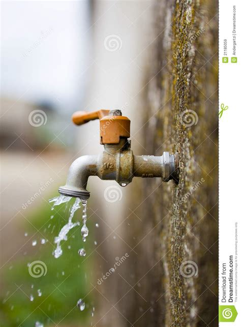 Cloudy Water In Faucet by Water Tap Royalty Free Stock Images Image 21185059