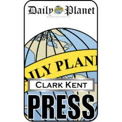 clark kent press pass daily planet halloween pinterest