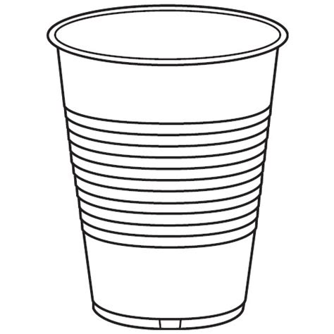 Cup Clipart Black And White cup black and white clipart