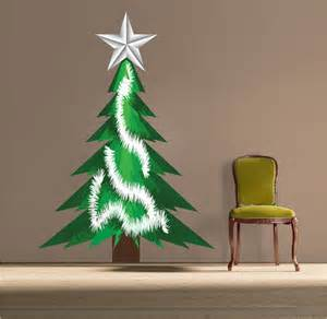 Xmas Wall Stickers Christmas Tree Tinsel Wall Decal Christmas Murals