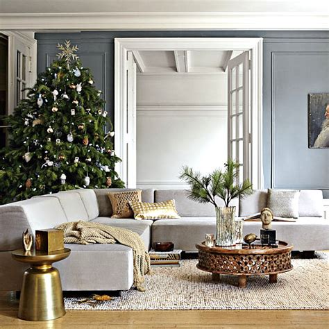 metallic home decor modern christmas decorating ideas for your interior