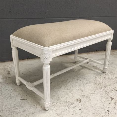 small padded bench small upholstered bench with fluted legs nadeau ta