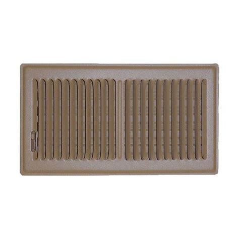speedi grille 6 in x 10 in floor vent register brown