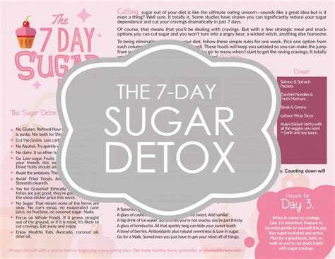 7 Day Sugar Free Detox by The 7 Day Sugar Detox Free Printable Plan