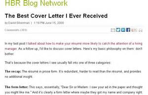 The Best Cover Letter by The Best Cover Letter I Received Letters Cover