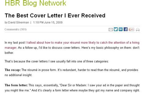 The Best Cover Letter I Ever Received   Letters, Cover