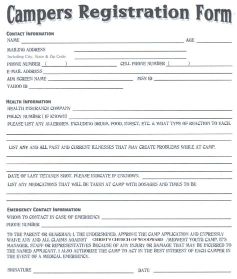 summer c registration form template summer c registration form template 28 images summer
