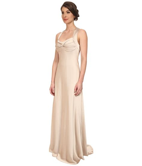 2 Die 4 Calvin Klein Satin Dress by Calvin Klein Crossback Satin Gown Cd5b1852 Chanpaign 6pm