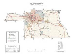houston county map maps of houston county