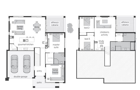 Split Plan House horizon act floorplans mcdonald jones homes