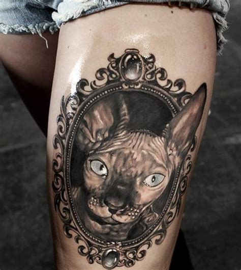 cat tattoos tumblr cat frame