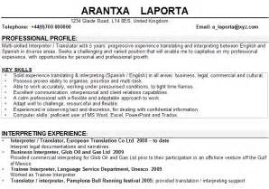 interpreter translator cv sle