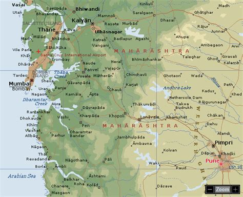 pune geographical map pune map