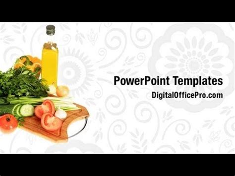 free food powerpoint template fresh vegetables nutrition powerpoint template backgrounds
