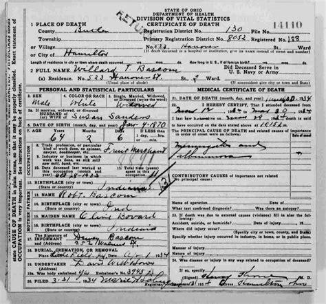 Ohio Birth Records Familysearch Indiana Records Familysearch
