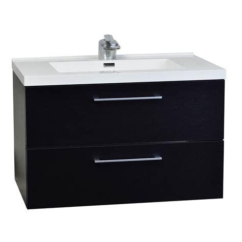 wall mount bathroom vanity buy 33 5 in wall mount contemporary bathroom vanity set