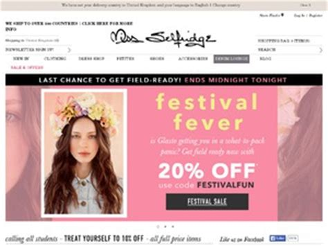 Miss Selfridge Site Relauch by Miss Selfridge Discount Voucher Codes 2018 For Www