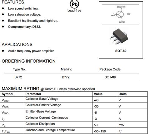 transistor b772p datasheet transistor b772 smd 28 images b772p transistor reviews shopping reviews on b772p transistor