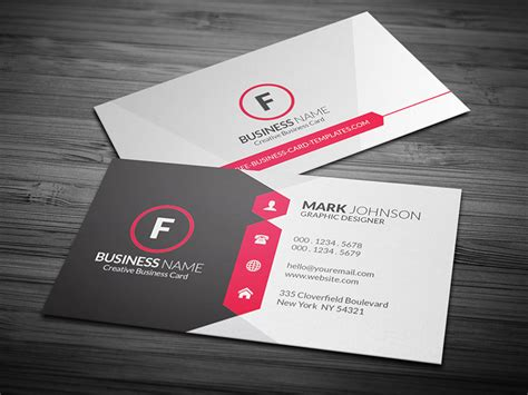 business card templat attractive modern corporate business card template