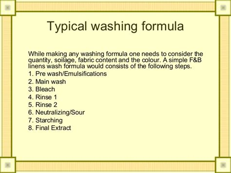 Soap Powder Chemical Composition Laundry An Housekeeper Perspective