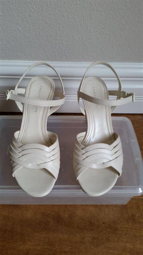 bone color shoes charles keith bone color light beige wedges on